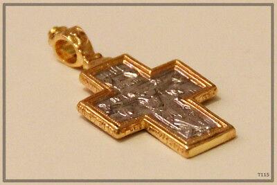 Orthodox Silver Gold Cross Pendant Jc Jesus Christ Crucifix (T115) 4