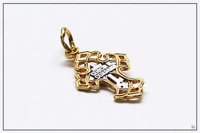 Russian Orthodox Silver Gold Cross For Baby Christening Pendant JC  (S1) 4