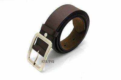 Les hommes cuir véritable robe ceinture Casual pin boucle ceinture courroi CH 3