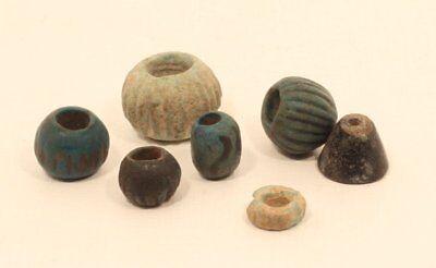 Egypt 2300-1600 bc faience bead group 3
