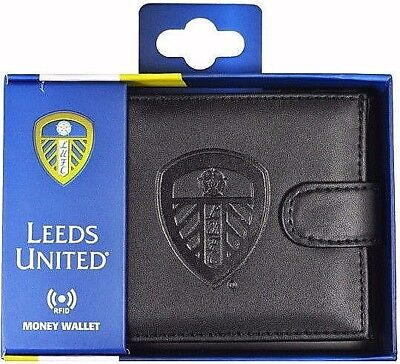 Debossed Crest Rfid Real Leather Football Club Sports Boxed Money Wallet Purse 7