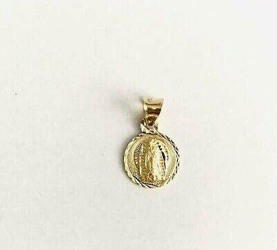 14K Solid Yellow Gold Virgin Guadalupe Pendant//14k Oro Dije de Guadalupe EGP44