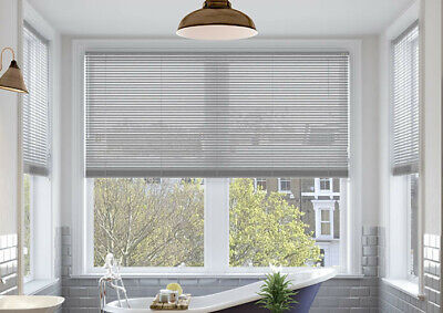 Pvc Venetian Blinds Easy Fit Trimable Home Office Window VENETIAN Blind All Size 5