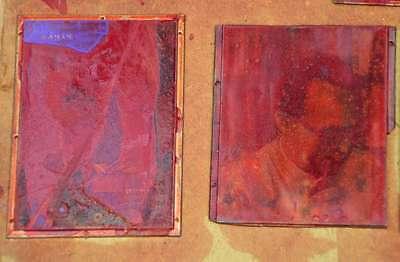 Konvolut Klischees Druckplatte Druckerei Drucker Bleisatz letterpress plates 5