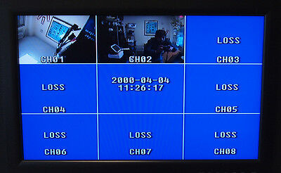 8 Channel 8 CH Analog Quad Processor Video Screen Switch CCTV Splitter w//Adapter