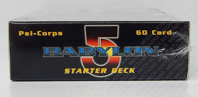 Babylon 5 CCG Psi-Corps Edition Starter Deck Box 60 Cards Collectible Sealed New