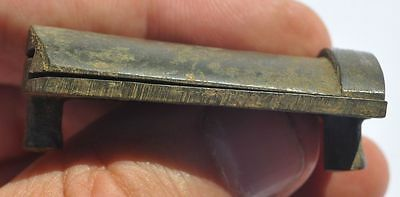 19th Century Europe Relic Find Solid Bronze Detail Sliding Key Hole Cover