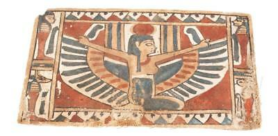 FOUR EGYPTIAN GESSO PAINTED CARTONNAGE FRAGMENTS Lot 67