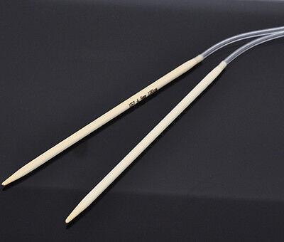 Bamboo circular knitting needles choose length (40cm to 120cm) & size (2 - 12mm)