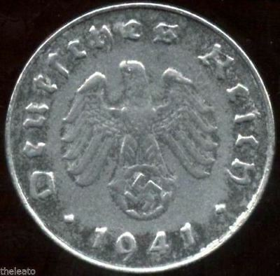 Rare Old WWII German War Coin WW2 Germany Military Army Civil Collection Cent