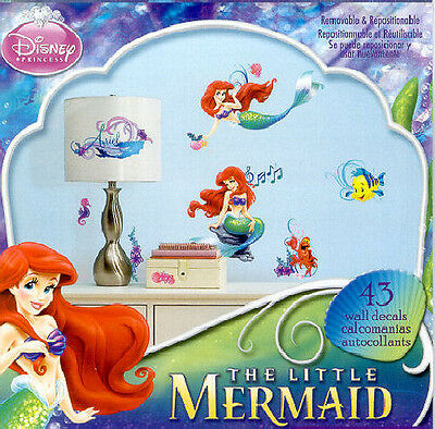2 Of 3 ARIEL LITTLE MERMAID Wall Stickers 43 Decal Disney Room Decor  Flounder Sebastian
