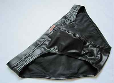 Slip Vinyle Cuir Sexy Homme Viril Erotic Thong Underwear Man Uomo Mann
