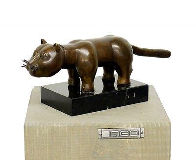 "Moderne Kunst Skulpturen moderne kunst bronze skulptur ""el gato"", hommage, sign. botero"