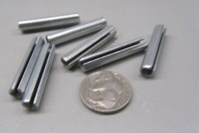 """Zinc Plate Steel Slotted Roll Spring Pin, 1/4"""" Dia x 1 3/8"""" Length, 100 pcs 7"""