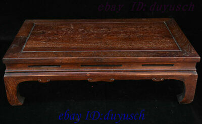 "24"" Old Chinese Huanghuali Wood handcrafted Furniture table Desk Tables Statue 2"