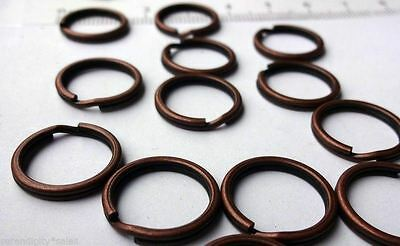"KEY RINGS Lot 500 ~ 15mm Approx 5//8/"" Split Ring ~ Black GUN METAL Finish Steel"