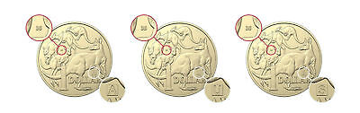 Set 2019 UNC, A, U, S Privy Mark $1 One Dollar Discovery Australian Coins 3