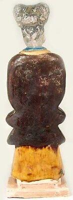 XLg Antique 15th Century Ming China Glazed Multi-Color Sancai Statuette w/ Horse 5