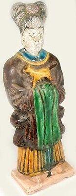 XLg Antique 15th Century Ming China Glazed Multi-Color Sancai Statuette w/ Horse 2
