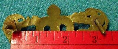 1 Brass Heraldic Style Drawer  Escutcheon with Screws 4