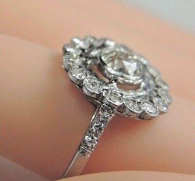 Antique Art Deco Vintage Diamond Platinum Engagement Ring Size 6.25 EGL USA Fine 8