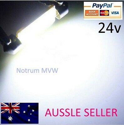 2pcs 24V 41mm Festoon COB LED Bright White C5W Truck 4wd Caravan Bus Bulb Globe