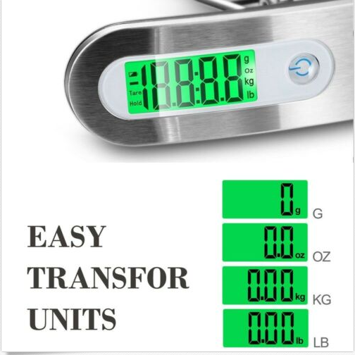 Portable Travel LCD Digital Hanging Luggage Scale Electronic Weight 110lb/ 50kg 3