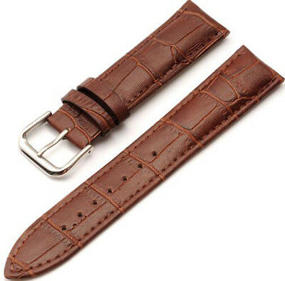 Mens Genuine Leather Watch Strap Band  Black Brown 14mm 16mm 18mm 20mm 22mm 24mm 11