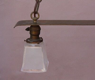 Early 20th Century Copper 2 Light Chandelier Antique Arts & Crafts (9759) 3