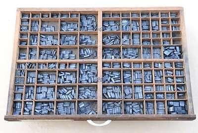 CHAMBORD 16°+20° Bleischrift im Setzkasten Bleisatz Handsatz Schrift Alphabet 3