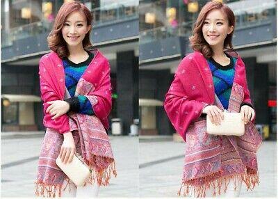 US SELLER- 20 Discount Scarves retro paisley peacock wholesale pashmina shawls 3