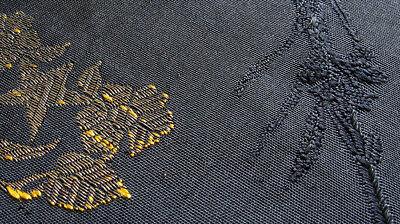 Antique Ottoman Textile Fragment Silk Gilt Silver Embroidery 19th century Turkey 10