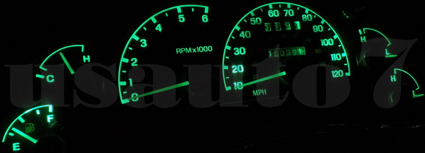 Dash Instrument Cer Gauge Green Leds Lights Kit Fits 95 03 Ford Ranger Truck 3 Of 4