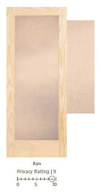 Rain Textured Decorative Glass French Doors 8 Wood Types Door