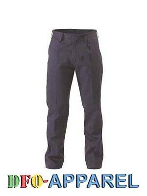 5 X Bisley Workwear Navy Original Cotton Drill Work Pant Navy Pants (Bp6007) 2