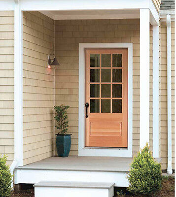 Exterior Hemlock Solid Wood Stain Grade French Doors 12 Lite Raised