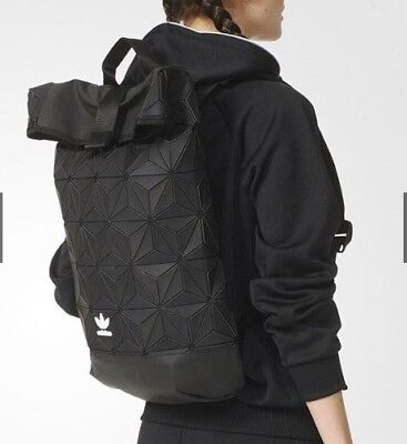 ... Adidas Roll Top BLACK NMD Z.N.E 3D Mesh Backpack x Issey Miyake  Geometric 2