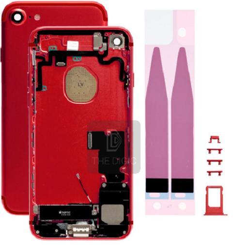 Châssis/Coque arrière pré montée iPhone 7 Or/Argent/Noir/mat/Rouge 5