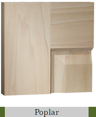 4 Panel Raised Select Better Poplar Stain Grade Solid Core Wood