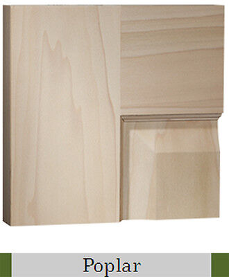 2 Panel Traditional Premium Poplar Stain Grade Solid Core Interior