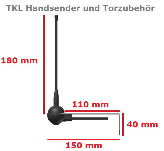 Antenne 433 MHz SOMFY Torantrieb Funk zur AußenMontage Magnetfuß 3M Kabel