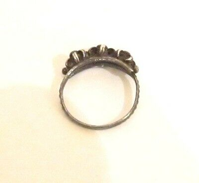 Vintage Excellent Early 20Th Century Silver Ring With Nice Filigree # 773 5