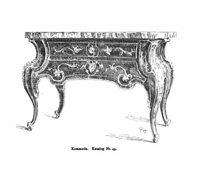 Berlin Castle Potsdam Baroque Rococo chest of drawers type commode royal 2