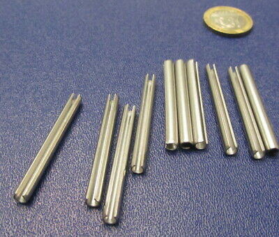 18-8 Stainless Steel Slotted Metric Spring Pin M4 Dia x 40 mm Length, 30 pcs 3