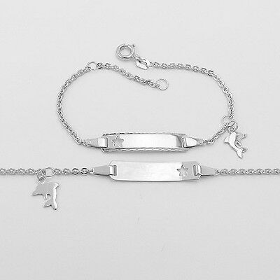 Baby Taufe Stern mit Kreuz Ident Armband inkl Gravur Name Datum Echt Silber 925