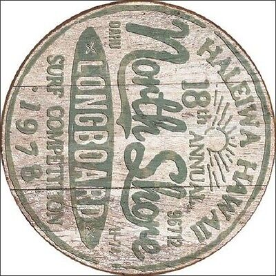 419837125f ... North Shore Longboard Surf Competition Hawaii Round Vintage Retro Metal  Tin Sign 2