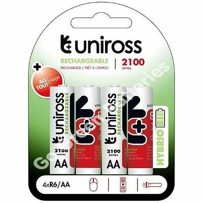 DC1500 MN1500 LR6 16 x Uniross AA 2600 mAh Rechargeable Batteries NiMH HR6