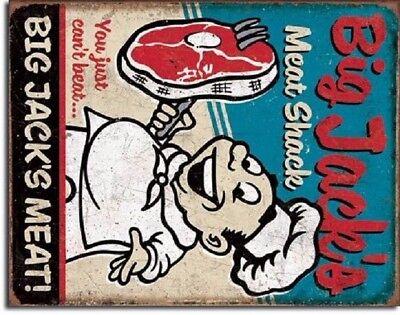 Big Jack/'s Meat Shack TIN SIGN metal poster funny retro vintage bar decor 2122