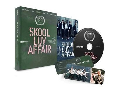 BTS [SKOOL LUV AFFAIR] 2nd Mini Album CD+115p Photo Book+Card+GIFT CARD  SEALED
