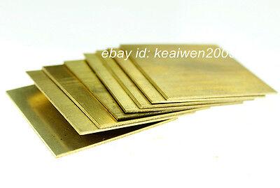 2pcs 150X150X1.5mm H62 Brass Sheet Brass Strip 1.5mm Thick Riveting Cutting Tool 4